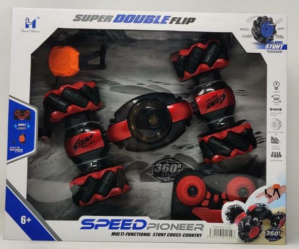 Toy Speed Pioneer Super Double Flip Wheel Device Stunt Car Remote Control F-63