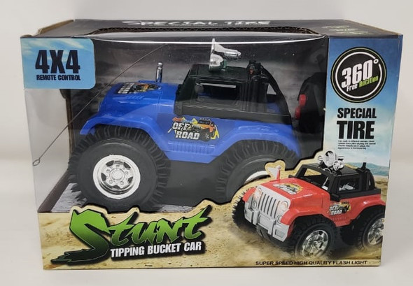Toy Stunt Tipping Bucket Car 4X4 360 Special Tire