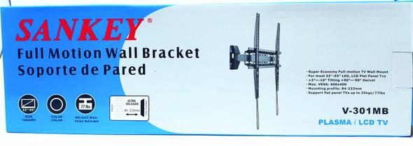 "TV WALL BRACKET SANKEY V-301MB 32""-55"" FULL MOTION"