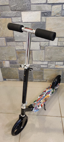 KIDS SCOOTER 2 WHEEL 8090-42 WITH STAND 5 TECHNO MUSIC