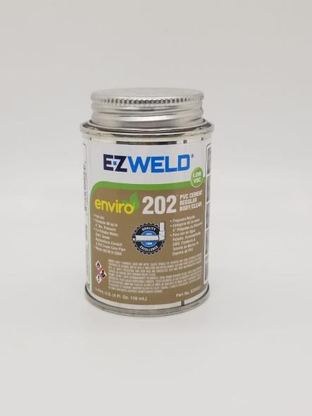 PVC PASTE CEMENT E-Z WELD 1/4PT 4OZ/118ML REGULAR