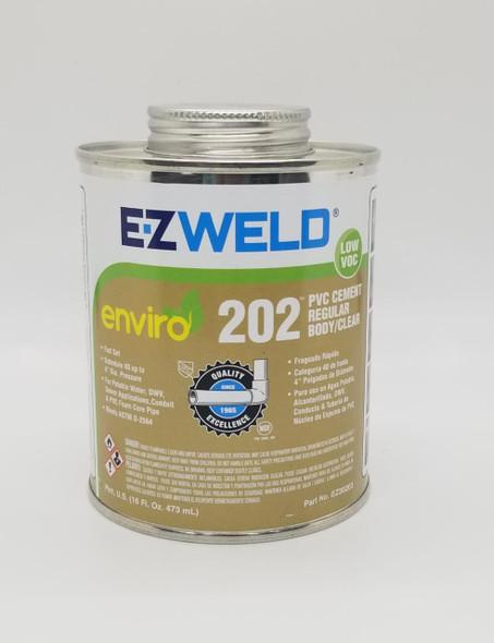 PVC PASTE CEMENT E-Z WELD 1PT 16OZ/473ML REGULAR