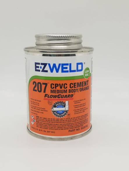 CPVC PASTE CEMENT E-Z WELD  1/2PT 8OZ/237ML ORANGE