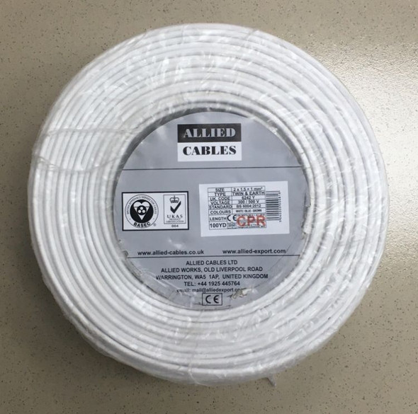 CABLE 1.5MM 2C W/EARTH ALLIED ROLL FLAT