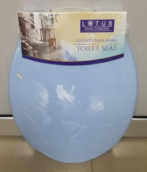 TOILET SEAT PLASTIC LOTUS BLUE 90598