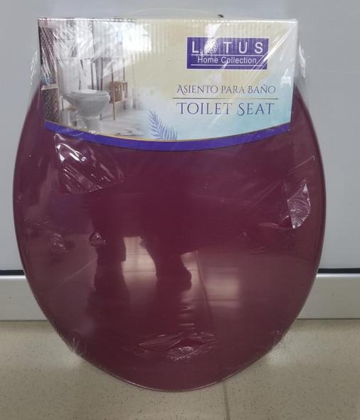 TOILET SEAT PLASTIC LOTUS BURGANDY 90601