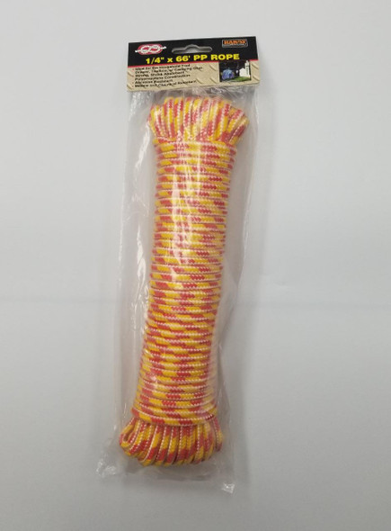 """CLOTHES LINE HARDY 1/4"""" X 66' PP ROPE"""