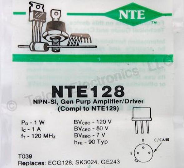 NTE 128 ECG 128 D#186