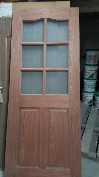 """DOOR PINE INTERIOR 32"""" X 80"""" W/GLASS 6 PANEL"""