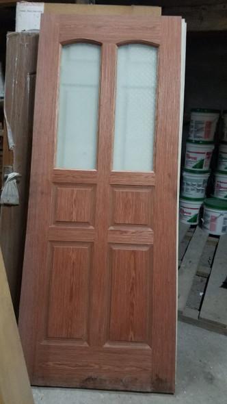 """DOOR PINE INTERIOR 32"""" X 80"""" W/GLASS DESIGN"""
