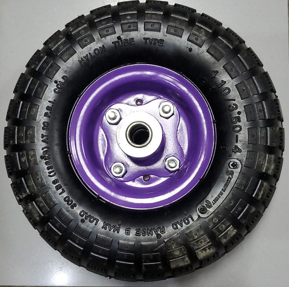 HAND TRUCK TROLLY WHEEL 4.10/3.50-4 4P PURPLE