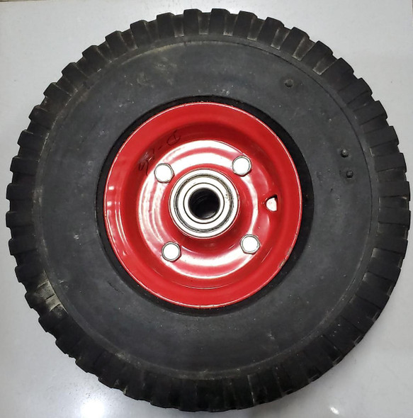 TROLLY WHEEL SOLID D16 RED BEARING