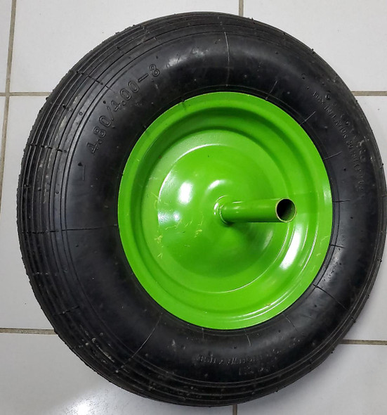 WHEEL BARROW WHEEL 4.80/4.00-8 AIR FLAT GREEN