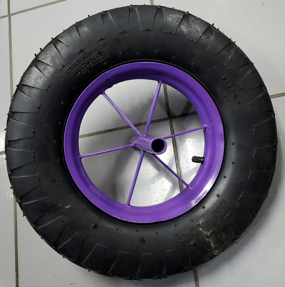 WHEEL BARROW WHEEL 4.80/4.00-8 AIR PURPLE 6PO