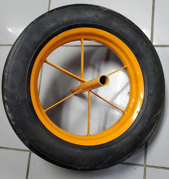 WHEEL BARROW WHEEL 4.80/4.00-8 SOLID ORANGE 6