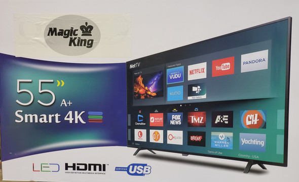"TELEVISION MAGIC KING 55"" LED SMART"