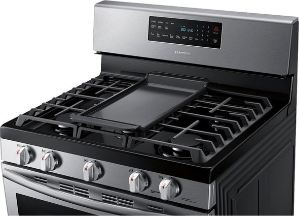 STOVE 5 BURNER SAMSUNG NX58N5605SS FAN CONVECTION OVEN WITH PLATE-GRIDDLE