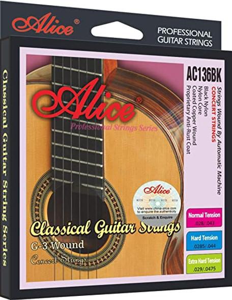 GUITAR STRING ALICE AC136BK-N CLASSIC PACK