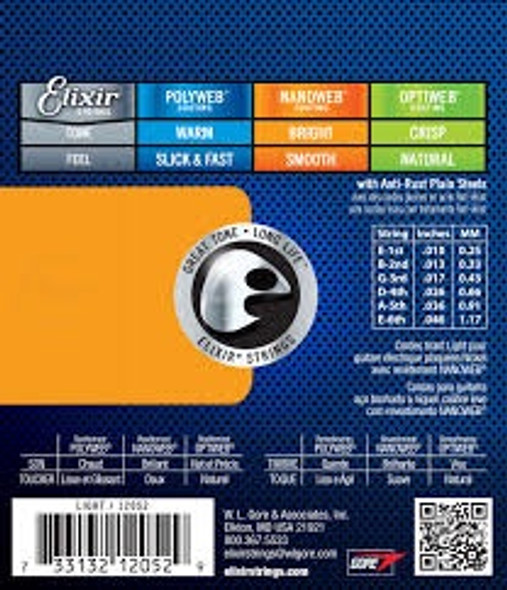 GUITAR STRING ELIXIR 12052 LIGHT NANO ELECTR