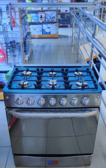 "STOVE 6 BURNER EMERALD 30"" NORMAL STAINLESS STEEL"
