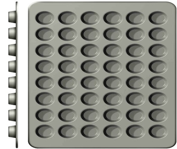 MUFFIN PAN WILTON 2105-6746 48 CAVITY MINI