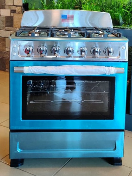 "STOVE 5 BURNER EMERALD 30"" NORMAL STAINLESS STEEL"