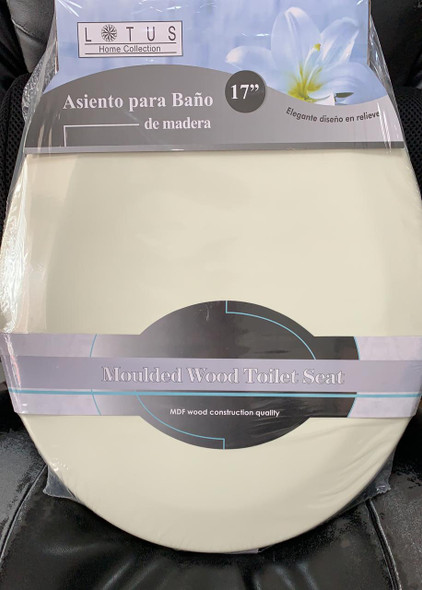 TOILET SEAT LOTUS WOOD #LT-7066BG BEIGE