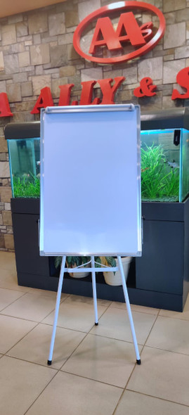 STATIONERY EASEL STAND & WHITEBOARD METAL 2' X 3'  60x90CM