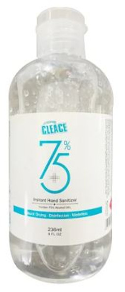 HAND SANITIZER GEL CLEACE 236ML 75% ALCOHOL