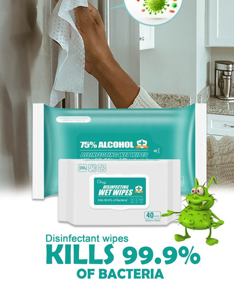 WET WIPES DISINFECTING 75% ALCOHOL 10PCS