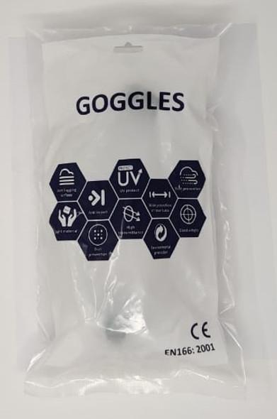 GOGGLES CLEAR SAFTY EN166:2001 R-001