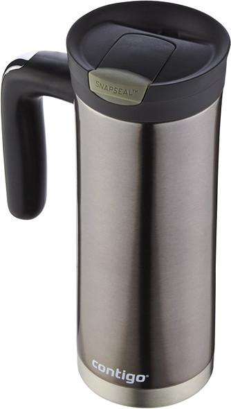 Travel Mug Contigo 20oz Snap Seal Superior stainless steel tumbler leaden gray