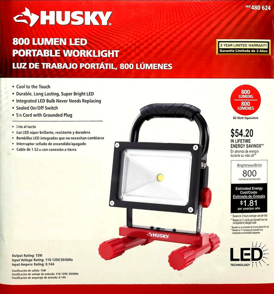 LIGHT LED PORTABLE HUSKY 800 LUMEN 480624