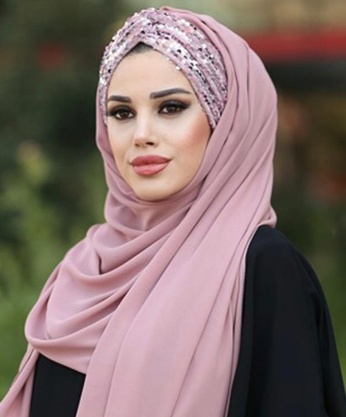 Hijab Scarf Chiffon With Sequin