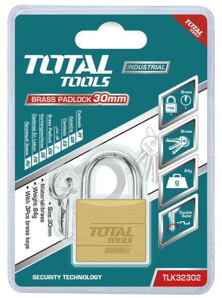 PADLOCK TOTAL 30MM TLK32302 BRASS