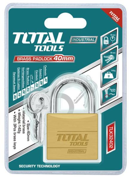 PADLOCK TOTAL 40MM TLK32402 BRASS