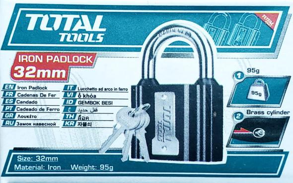 PADLOCK TOTAL 32MM TLK31321 IRON