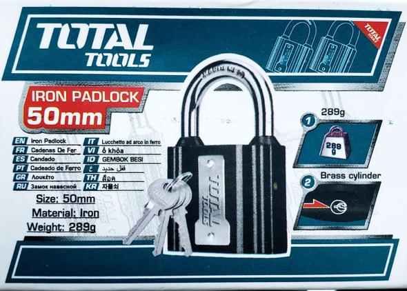 PADLOCK TOTAL 50MM TLK31501 IRON