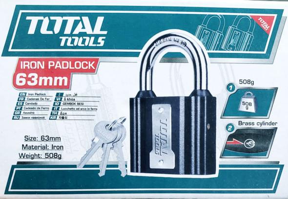 PADLOCK TOTAL 63MM TLK31631 IRON