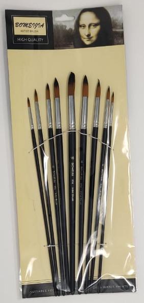 ARTIST BRUSH 9PCS BOMEIJIA POINTED TIP