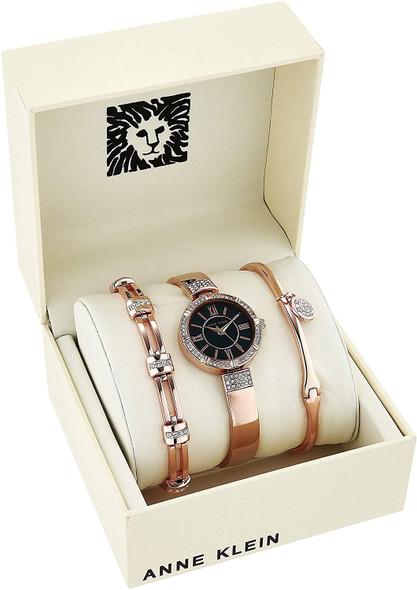 Watch Set Women Anne Klein AK/3294NRST Swarovski Crystal Accented Watch and Bracelet Set