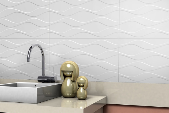 TILE CERAMIC 12.5 X 22.5 #DUNA WHITE HD 32X57