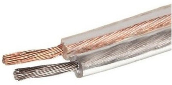 SPEAKER WIRE 14G CLEAR CABLE-14 AUDIO PIPE SOLD BY YARD