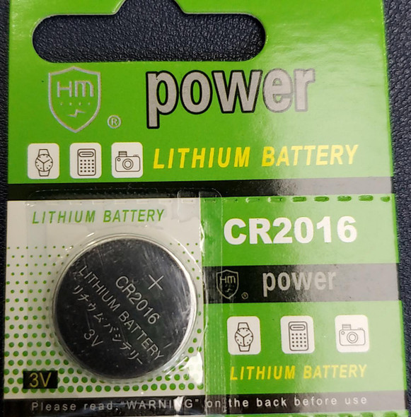 BATTERY LITHIUM COIN CR2016 HMPOWER
