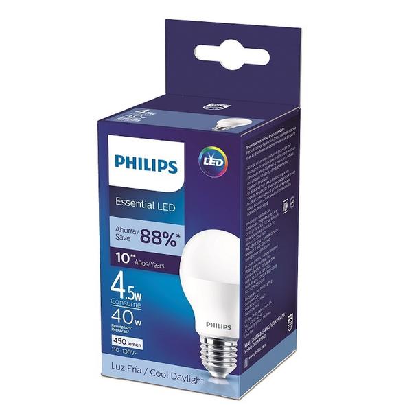 BULB LED PHILIPS 4.5W 6500K 110V 9290018068