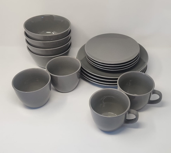 DINNER SET 16PCS COLOR ROUND STONEWARE ROOM ESSENTIALS