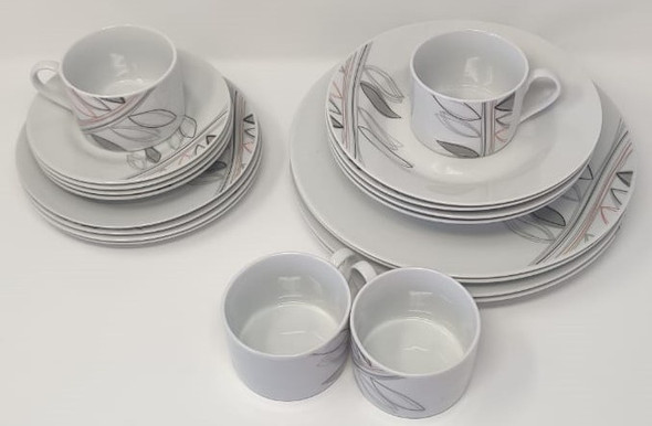 DINNER SET 20PCS ELEGANT HOME ROUND