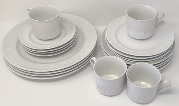 DINNER SET 20PCS EMBOSSED JR-62
