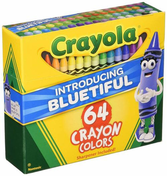 CRAYON CRAYOLA 64PCS PACK WITH SHARPENER