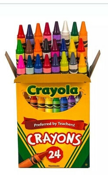 CRAYON CRAYOLA 24PCS PACK PREFERRED BY TEACHERS!